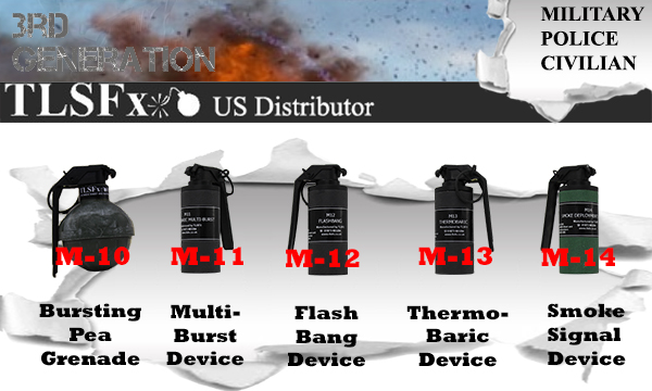 TLSFx Gen 3 Airsoft Grenades and Distraction Devices